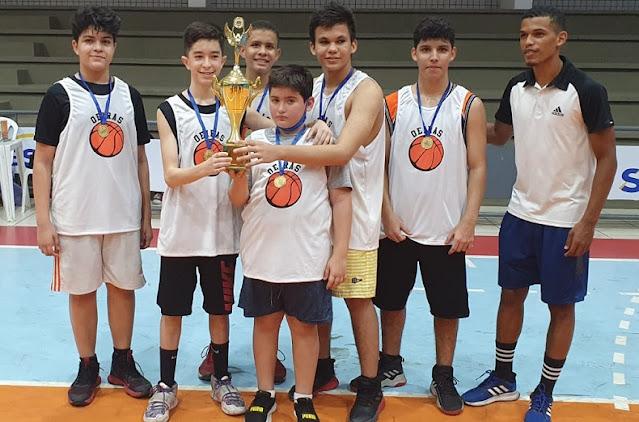 Oeiras vence Babaçu e se consagra campeão Piauiense de basquete sub15