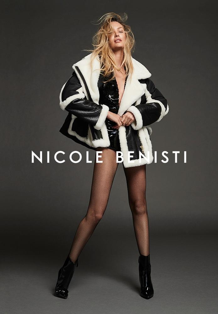 Candice Swanepoel poses for Nicole Benisti fall-winter 2021 campaign