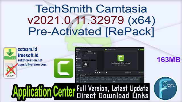 TechSmith Camtasia v2021.0.11.32979 (x64) Pre-Activated [RePack]