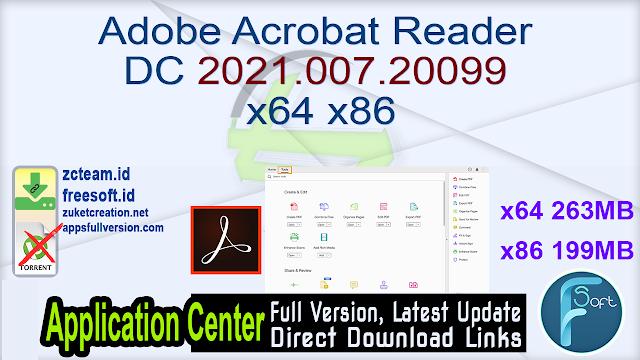Adobe Acrobat Reader DC 2021.007.20099 x64 x86