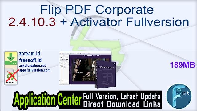 Flip PDF Corporate 2.4.10.3 + Activator Fullversion