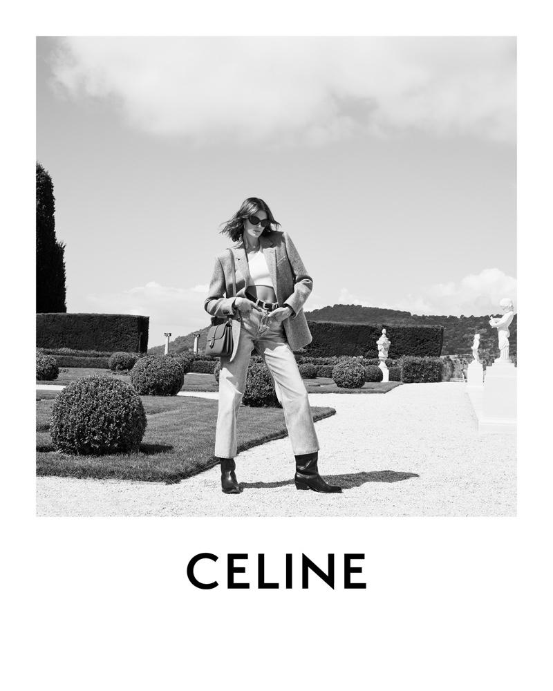 Kaia Gerber stars in Celine winter 2021 campaign.