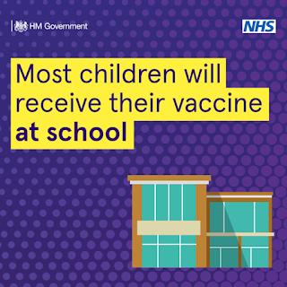 UK HM GOV Children will be vaccinated in school
