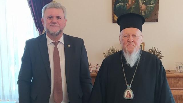 Συνάντηση του Δημάρχου Σουλίου με τον Οικουμενικό Πατριάρχη Βαρθολομαίο