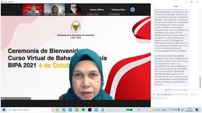 Lebih dari 300 Peserta Siap Belajar Bahasa Indonesia Secara Virtual di Lima