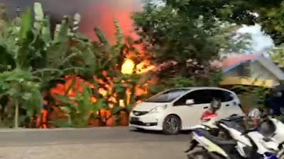 BREAKING NEWS: Kebakaran Hanguskan Rumah Warga di Cabalu