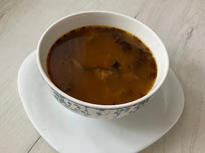 Zupa flaczki z grzybów kania