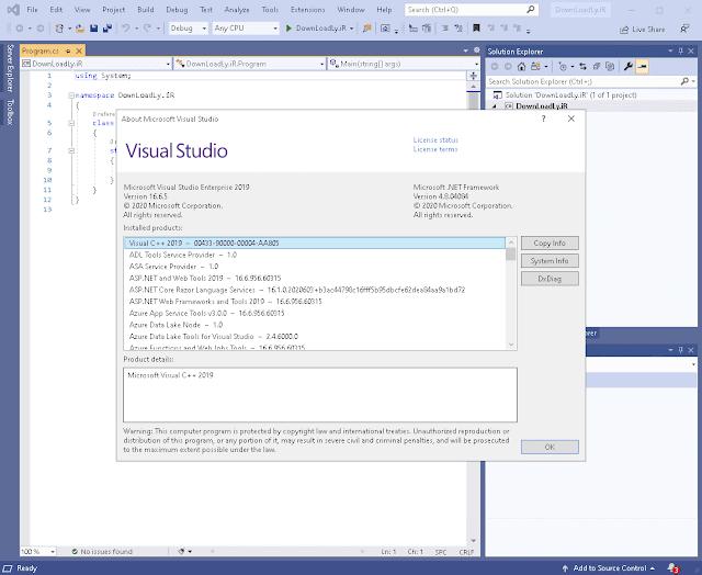 Microsoft Visual Studio 2019 v16.11.4 / 2017 v15.9.36