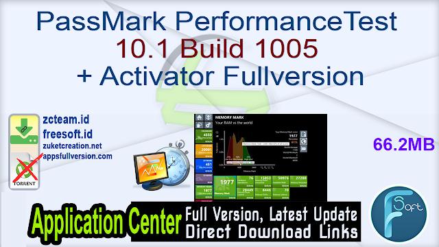 PassMark PerformanceTest 10.1 Build 1005 + Activator Fullversion