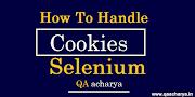 How to Handle Cookies in Selenium Webdriver using Java - Cookies in Selenium