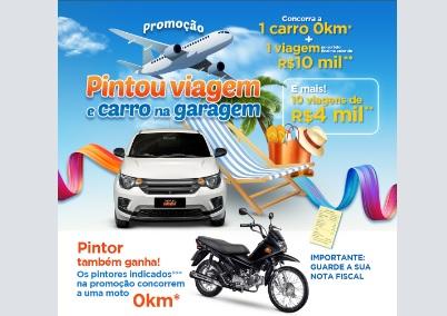 Promoção Tintas MC Pintou Viagem e Carro na Garagem