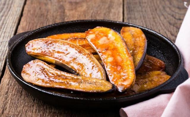 Receita de banana assada