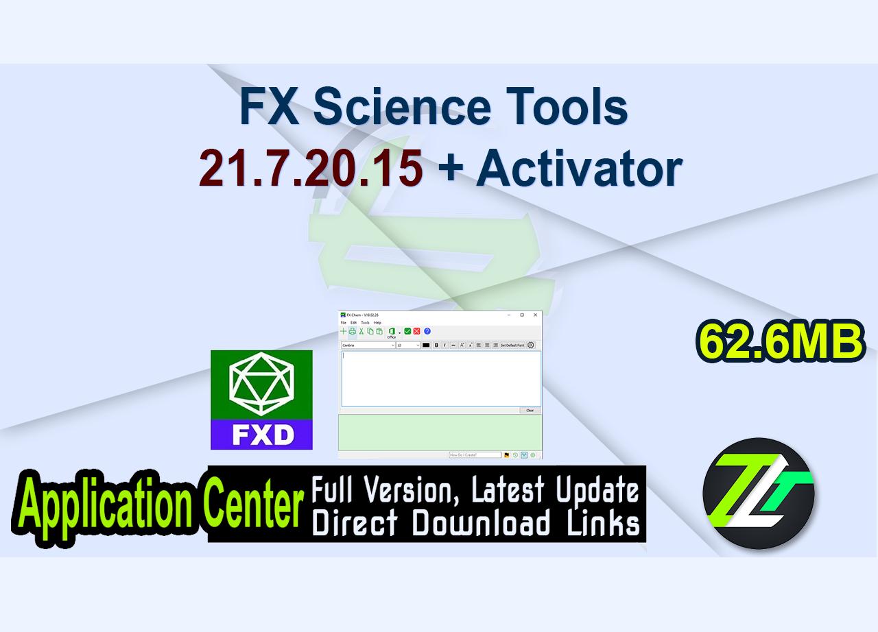 FX Science Tools 21.7.20.15 + Activator