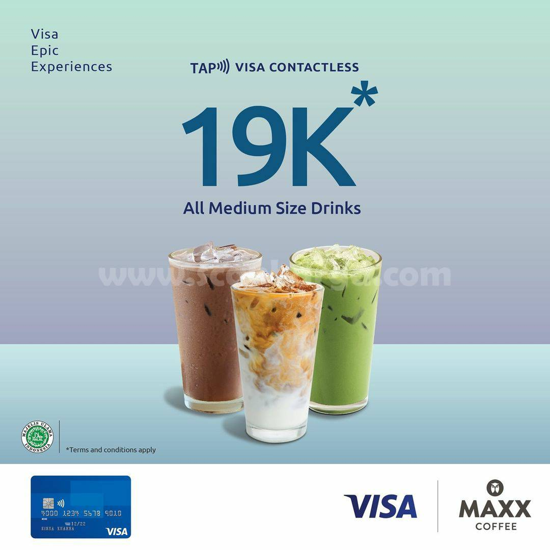 Promo Maxx Coffee All Medium Size Drink cuma Rp. 19.000