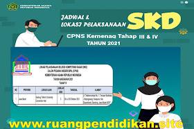 Jadwal Dan Lokasi Pelaksanaan SKD CPNS Kemenag Tahap 3 dan 4 Tahun 2021