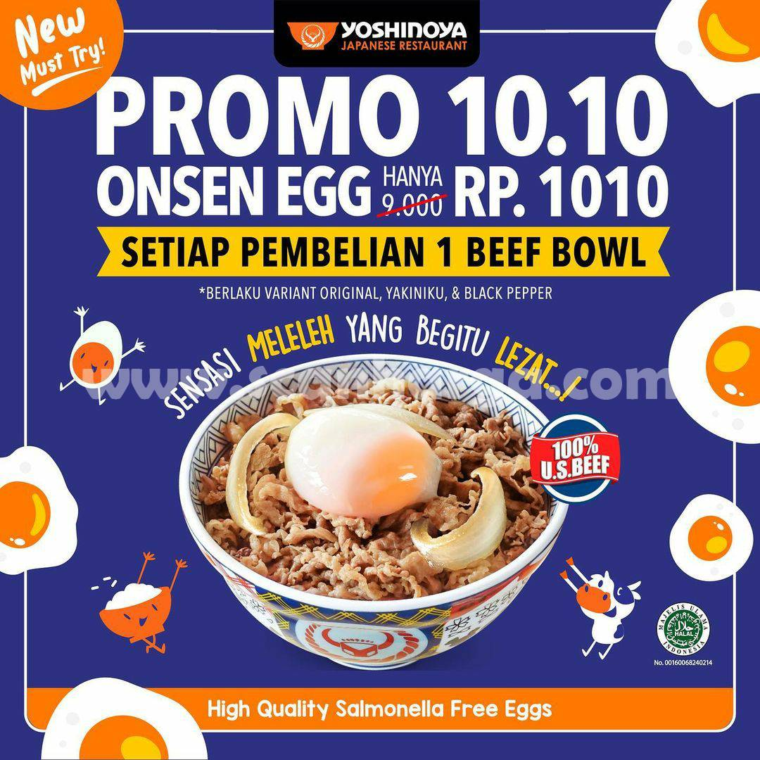 Yoshinoya Promo 10.10 harga spesial Onsen Egg Hanya Rp. 1.010