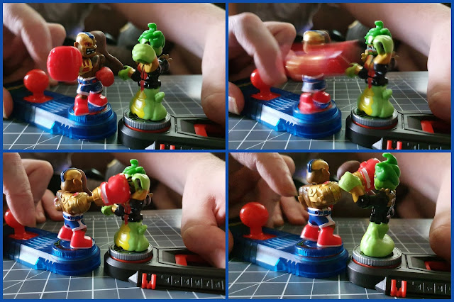 akedo battle warriors collage of 4 photos showing how to control a punch