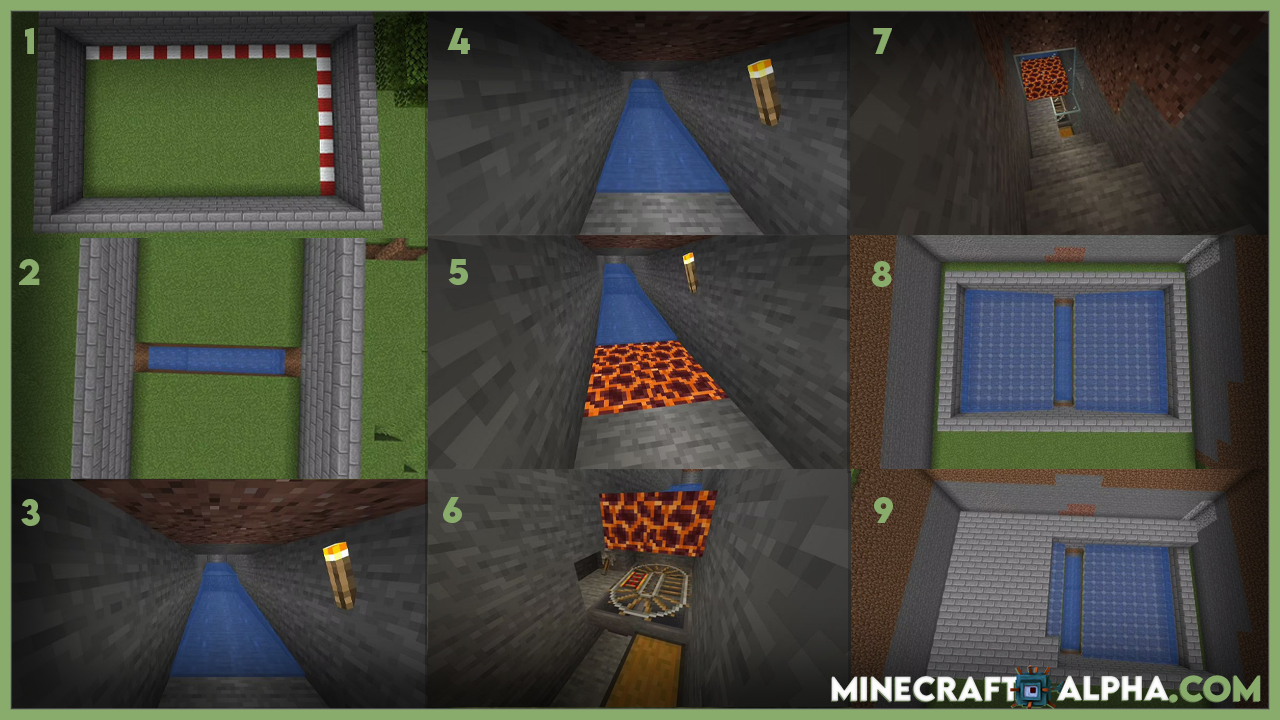 Minecraft Bedrock: How to Create a Mob Farm Detailed Image Recipe 2021 1.18 1.17.1