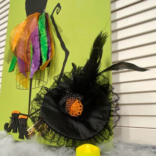 Boho Witch Scrap Wood 3D Halloween Sign