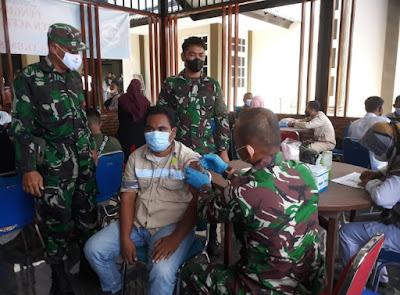 Dandim 0105/Abar Serukan Percepatan Vaksinasi Massal lndonesia Sehat lndonesia Kuat