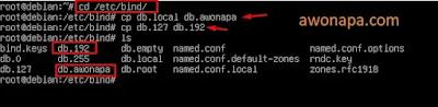copy dan paste file pada /etc/bind