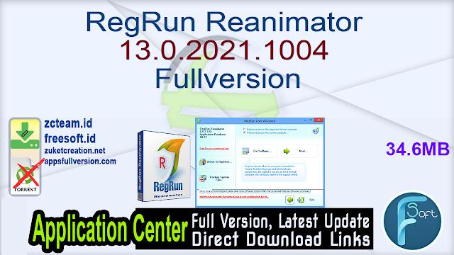 RegRun Reanimator 13.0.2021.1004 Fullversion