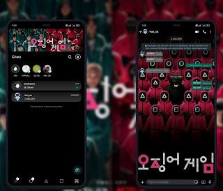 Squid Game Dark Theme For GBWhatsApp & Delta WhatsApp By Amakzone