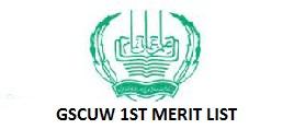 Government Sadiq College Women's University GSCWU Morning BS Program Fall 2021 1st Merit List