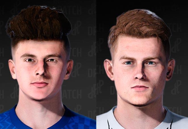 Mason Mount & Matthijs de Ligt Face For eFootball PES 2021
