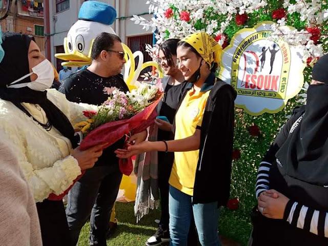 تقديم الورود