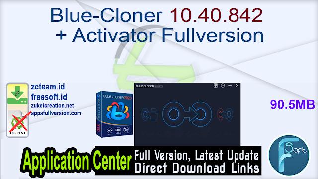 Blue-Cloner 10.40.842 + Activator Fullversion