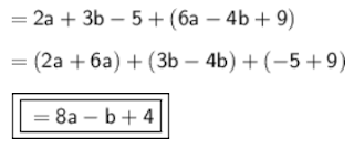 b. 8a – b + 4  www.jawabanbukupaket.com
