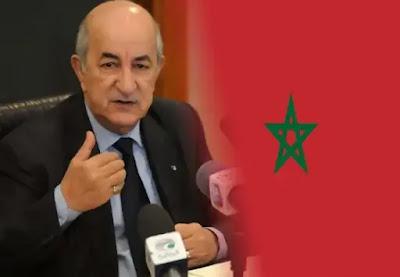 من جديد الرئيس الجزائري ينفث سمومه على المغرب ويلوح للحرب