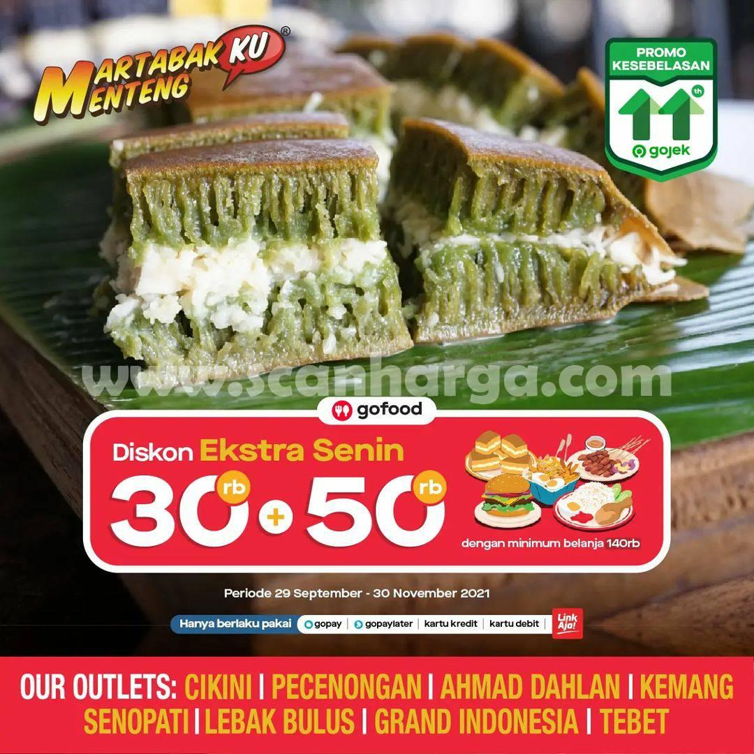 Martabakku Menteng Promo Extra Senin GOFOOD – Diskon Rp 80.000