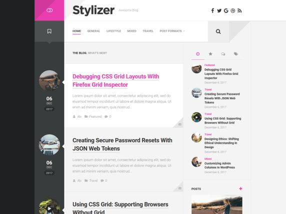 Stylizer Best Free WordPress Themes For Blogs 2021