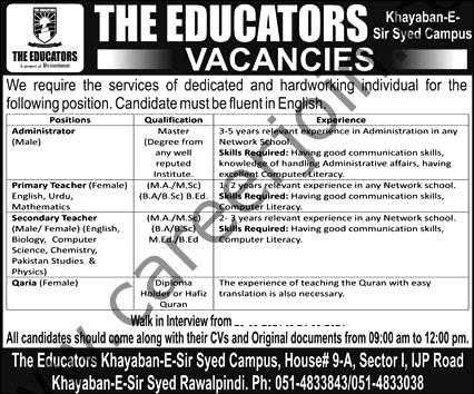 The Educators  Latest  Jobs September 2021