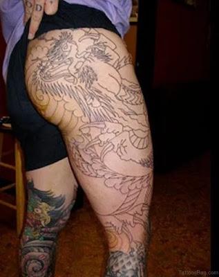 Gorgeous Dragon Tattoos For Thigh