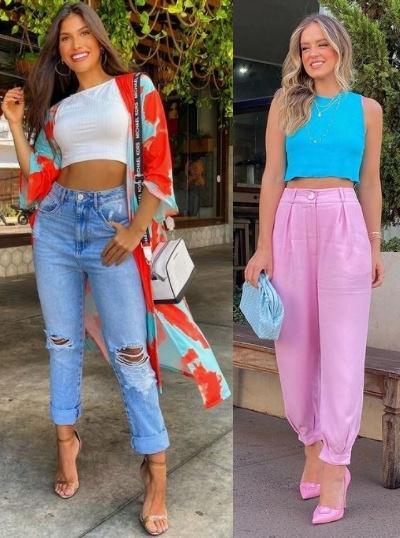 Combinações de cores para looks estilosos, Mariana Velloso, Thaciana Mesquita