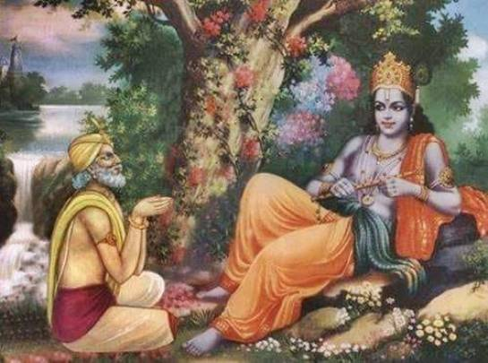 Udhhava and Krishna