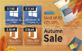 تخفيضات الخريف احصل على الويندوز 10 بسعر 7.53 دولار فقط !