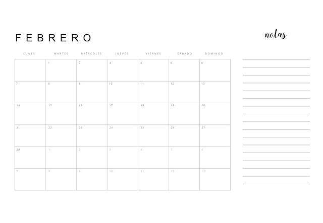 Calendario 2022 minimalista imprimible