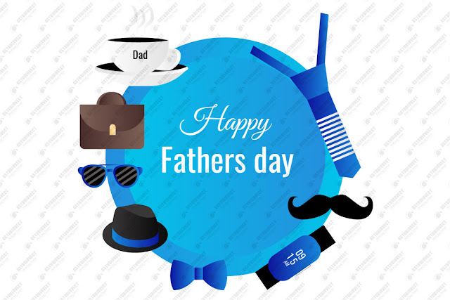 Flat happy father's day illustration free vector download