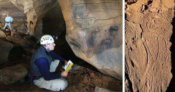 Ancient Americans Made Art Deep Within The Dark Zones Of Caves Throughout The Southeast