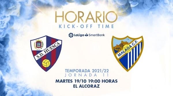 El Málaga ya conoce los horarios ante el Huesca y CD Lugo
