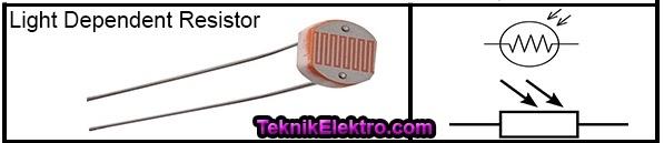 LDR light dipendent resistor dan simbol