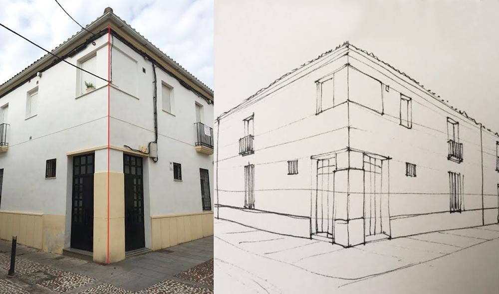 Cómo dibujar en perspectiva una habitación_8