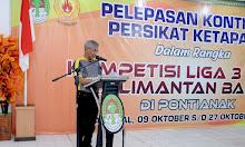 Pelepasan Kontingen Tim PERSIKAT Ke Kompetisi Liga 3 Zona Kalbar di Pendopo Bupati Ketapang