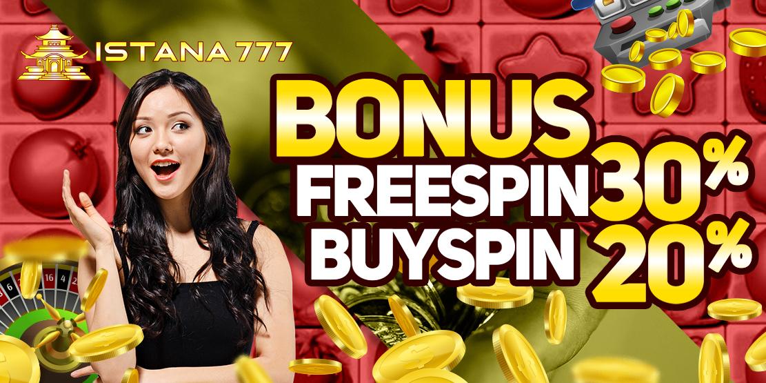 Bonus Freespin 30% Buyspin 20%