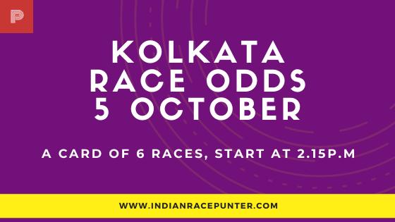 Kolkata Race Odds 5 October