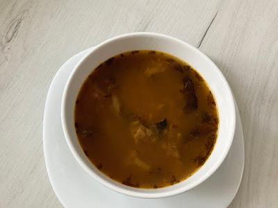 Zupa a'la flaczki z grzybów